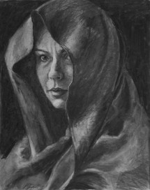 Charcoal Study for Little Blue