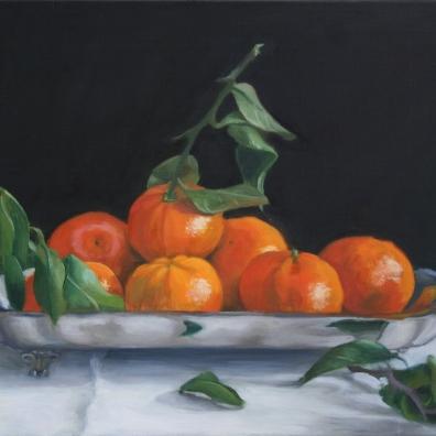 Oranges on a Silver Platter