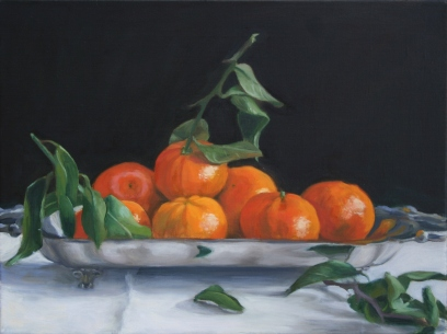 Oranges on a Silver Platter