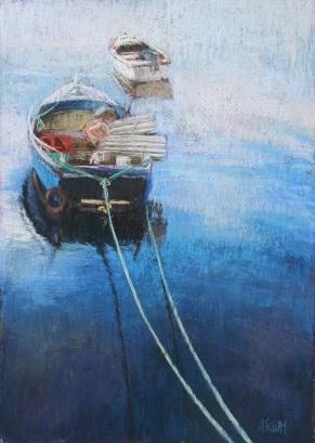 Tethered Boat Kilbeg Harbour