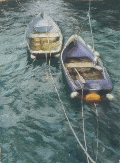 Tethered Harbour Boats